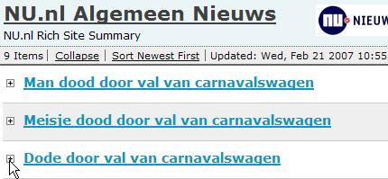 Val van carnavalswagen